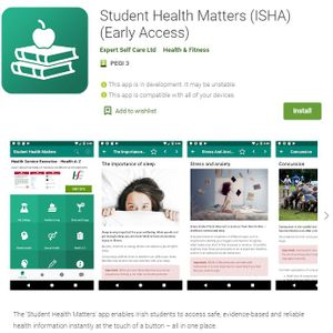 Dr Eoin McDonagh speaks about what led to the development of the Student Health Matters App