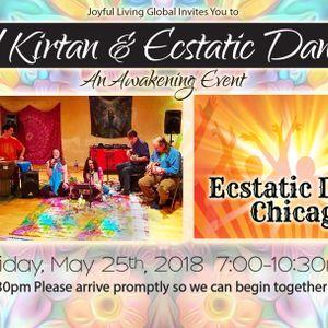 Ecstatic Dance Chicago post Bhakti Caravan Kirtan and The Direct Path Meditation 5/25/18