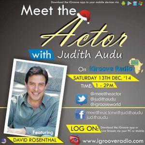 Meet the Actor with judith Audu Guest David Rosenthal