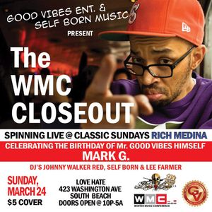 Rich Medina @ Love/Hate Classic Sundays WMC Close Out PT 2