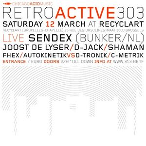 """Shaman at """"Retroactive 303"""" at Recyclart (Brussel - Belgium) - 12 March 2005"""
