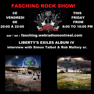 Fascing web Radio Interview with Simon Talbot & Rob Mallory from LIBERTY'S EXILES