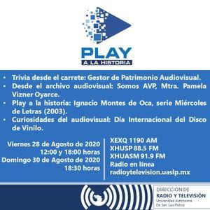 Programa 45. Play a la Historia. Somos AVP, (28/08/2020)