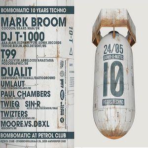 Dj T-1000 @ Bomb O Matic 10 Years Techno - Petrol Club Antwerpen - 24.05.2014