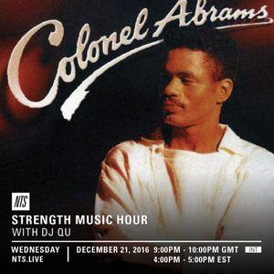Strength Music Hour w/ DJ QU - 21st December 2016