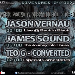 (J.Sound) James Söund and Guest Jason Vernau (1st hr) radio podcast #33 on Proxima FM Spain 2/23-24