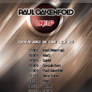 Sesion para el evento con Paul Oakenfold en PlayTrance.com