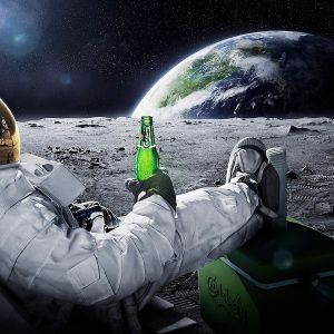 Space Deep House Night