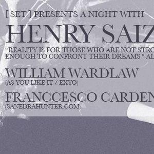 Franccesco Cardenas of SanedracHunter Opening set on 10.24.13 at Harlot San Francisco for Henry Saiz