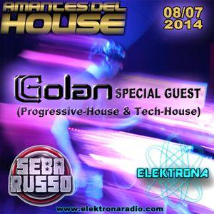DJ Golan Special Guest ELEKTRONA Radio 08-07-2014 (Progressive-House & Tech-House)