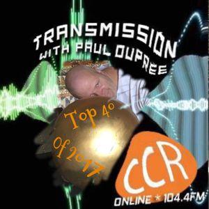 Transmission Top 40 Tracks of 2017 - @ccrTransmission - Paul Dupree - Chelmsford Community Radio