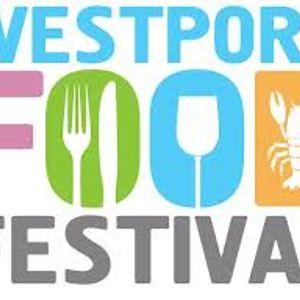 Sinead Lambert, director of Westport food festival - speaking with Johnny Oosten.