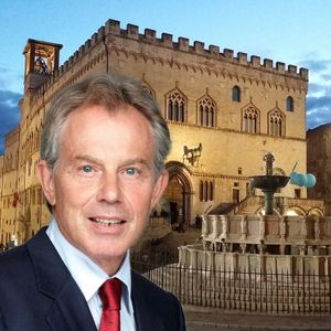 Scherzo Tony Blair a Perugia - Peppe e Stefano