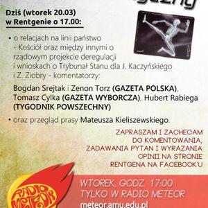 Rentgen Polityczny 20.03: Z. Torz (Gazeta Polska), H. Rabiega (Klub Tyg. Powszechnego)