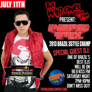The Wild Ones FM Guest DJ Marquinhos Espinosa From Brazil on Kiss FM 96,9