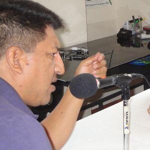 Juan Cuvi y el dirigente Pepe Acacho estuvieron en un mítin electoral en Macas