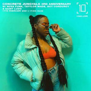 Concrete Jungyals w/ Nova Funk, Tayylor Made, Boy Corduroy & Saint Ludo - 17th February 2021