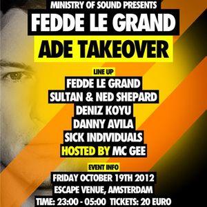 Deniz Koyu - Live @ Takeover, Escape Venue, Amsterdam Dance Event, Amsterdão, Holanda (19.10.2012)