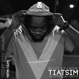 25/01/2019 - Tiatsim (House Of Grime) w/ American Grime