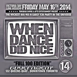 When Dance Did Nice 14 Promo CD