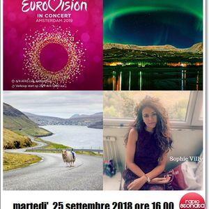 Radio Stonata. Road to ESC. 25.09.2018. Islanda. Sophie Villy. Faroer. Eurovision News