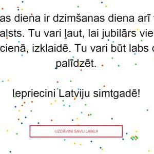 """Sabiedriskie mediji aicina Latvijai simtgadē uzdāvināt laiku akcijā """"Uzdāvini laiku!"""""""