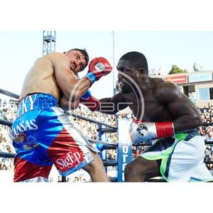 Andre Berto Lands The Perfect Uppercut Ultimately Stopping Victor Ortiz