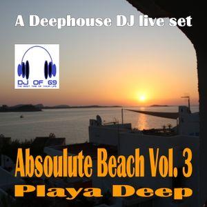 Absoulute Beach Vol. 3 - Playa Deep - A Deephouse DJ LIVE SET