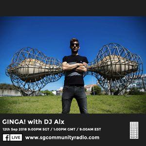 "SGCR Radio Show #79 - 12.09.2018 Episode ""GINGA! with DJ Alx"""