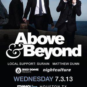Matthew Dunn live @ Above and Beyond 7-3-2013