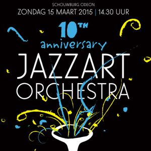 Zwols Muziekarchief005 interview Jazzart Orchestra, Tibor Elferink, Gerd Pol,  Humphrey Campbell