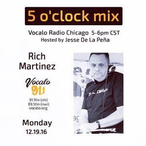 Vocalo 5 o clock Mix 12/19/16