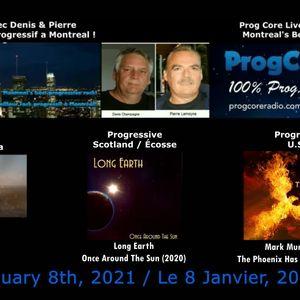 Dream Aria, Long Earth & Mark Murdock on Prog Core Live radio show.