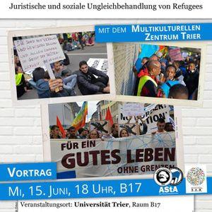 """Multikulturelles Zentrum Trier e.V.: """"Willkommenskultur"""" und andere Märchen (15. Juni 2016)"""