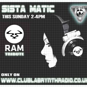 RAM Records Show - Sista-Matic - Club Labrynth Radio -  Sunday 28/06/15