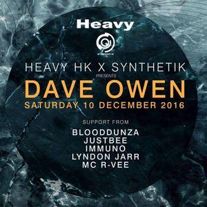 Dave Owen & R-Vee @ Synthetik b2b Heavy, HONG KONG. December 2016
