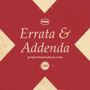 PMB190: Errata and Addenda
