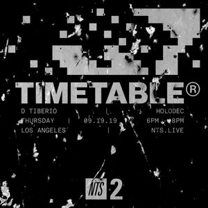 Timetable w/ D Tiberio & Holodec - 19th September 2019