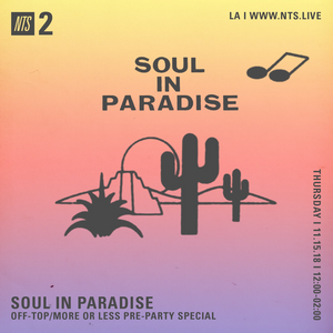 Soul in Paradise w/ Jamma Dee, DJ Ray and Will Dimaggio - 15th November 2018