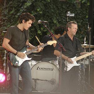 John Mayer with Eric Clapton 2007-07-20 Bryant Park, New York