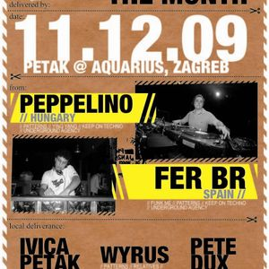 Peppelino - Live at club aquarius zagreb Croatia (2009.12.11.)