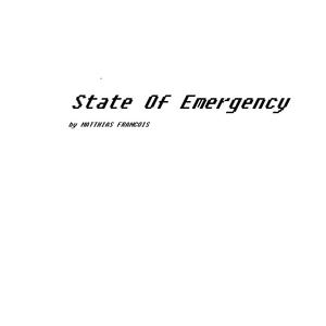 Matthias-Francois - State Of Emergency Vol.167 (04.06.2017)