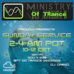 Uplifting Trance - Ministry of TRance Sunday service WK44 Nov 4 2018