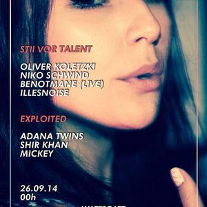 Oliver Koletzki @ Watergate Club Berlin 26-09-2014