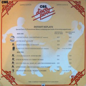 GREG WILSON PRESENTS THE ORIGINAL BRITISH MIXES - CBS DISCO POOL 'INSTANT REPLAYS' 1978