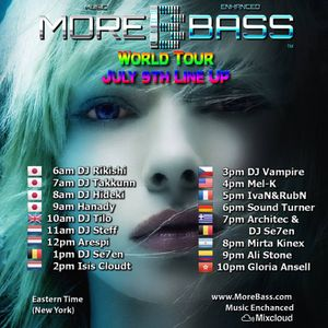 Morebass presents  ; Worldtour july 9th 2016. With Arespi - Drop it down Low