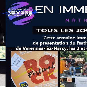 MATHEU EN IMMERSION - PREPARATION DU FESTIVAL DE ROCK DE VARENNES-LES-NARCY - REPORTAGE INTEGRAL