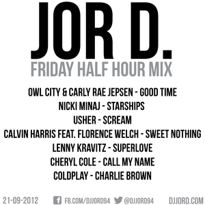 Friday Half Hour Mix 21-09-12