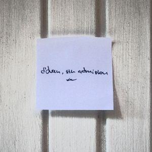 d'Juan, sin admision