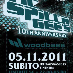 dj skid & mc tazz, mc spilla @ woodbass 5.11.2011
